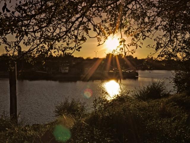 Sonnenuntergang in Speyer