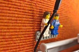 Kabelhalter aus Lego