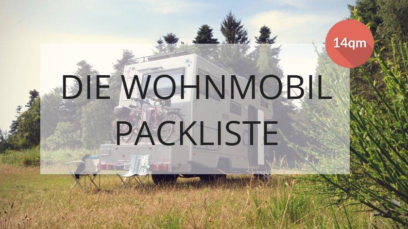 Wohnmobil Packliste