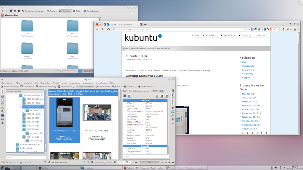 Linux Kubuntu 12.10 Desktop