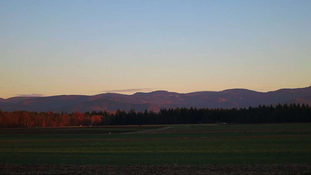 Schwarzwald in Sonnenuntergang