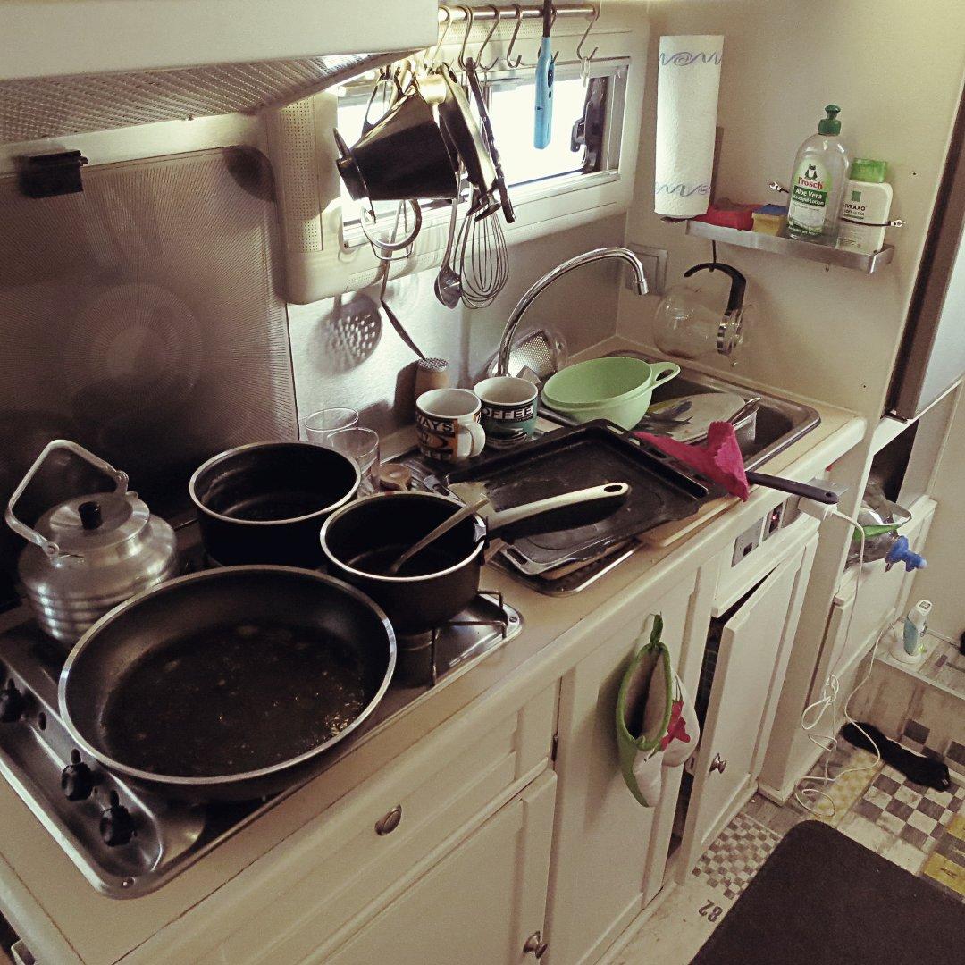 Küche zerlegt