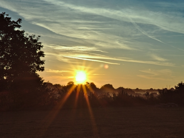 Sonnenaufgang in Bodenheim