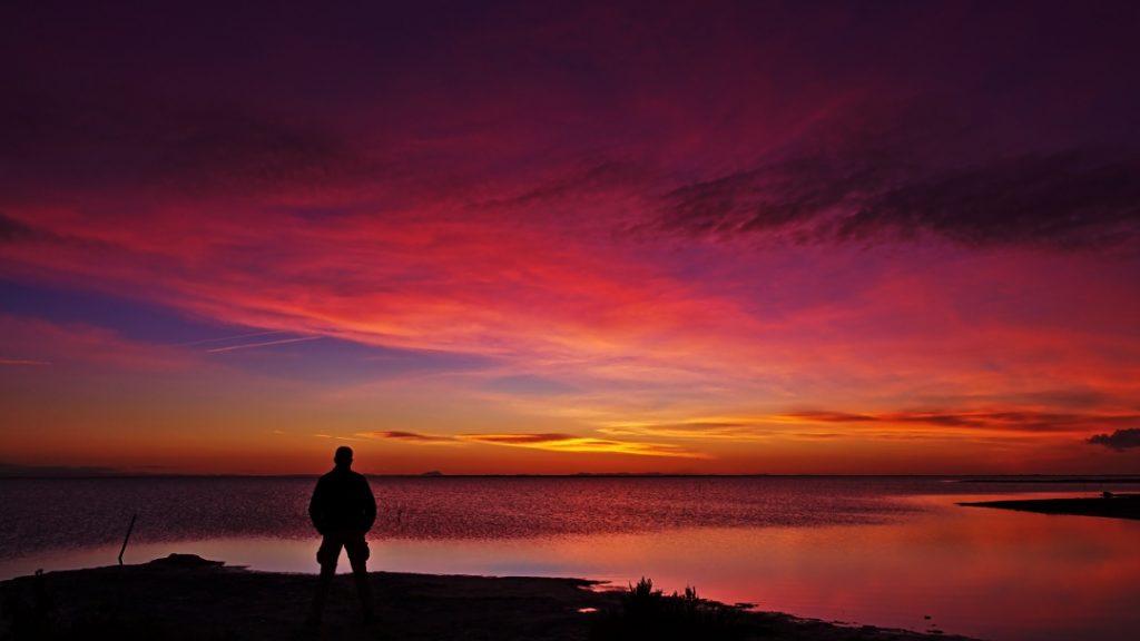 Sonnen aufgang am Étang de Monro