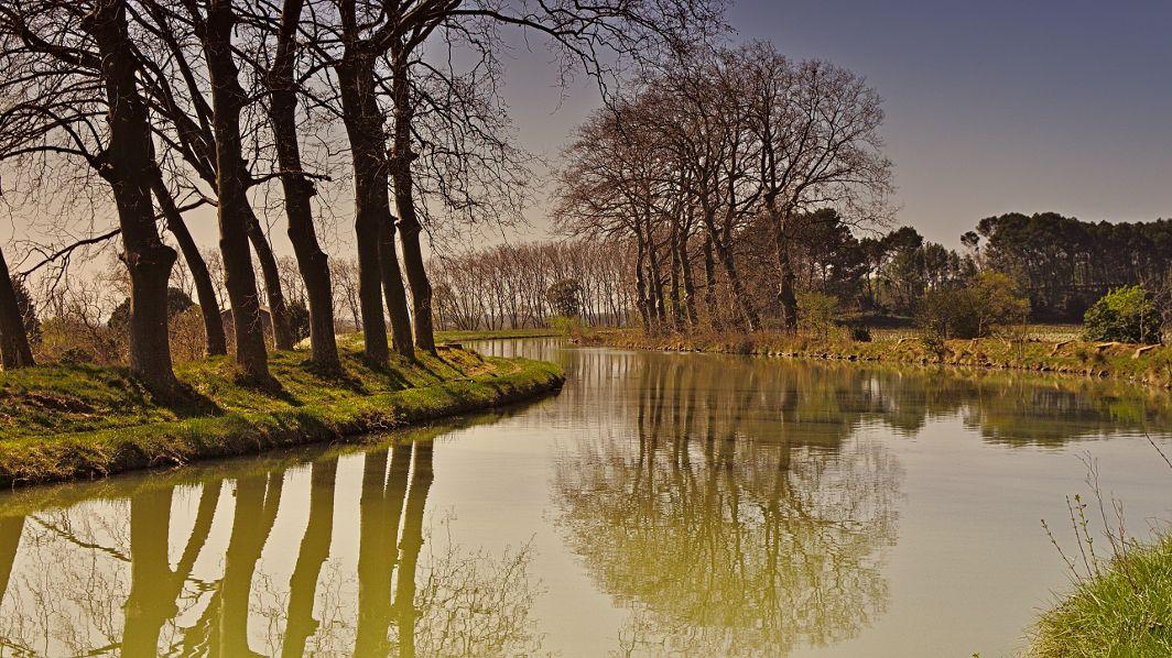 Am Canal du Midi hinter Argeliers