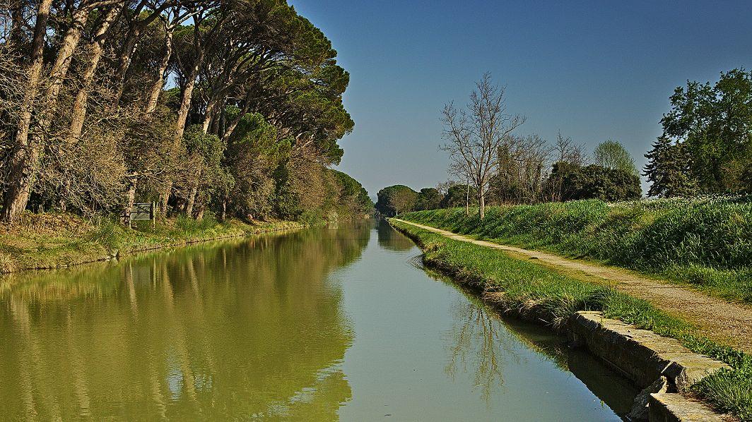 Am Canal du Midi hinter Mirepeisset