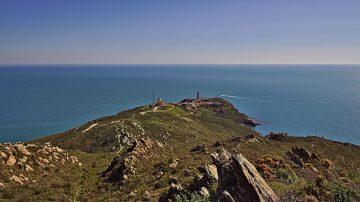 30a Blick auf Leuchtturm am Cap Béar