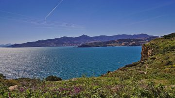 30c Blick über das Mittelmeer Richtung Spanien