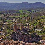 Bilck auf Foix vom Sentier des Terrasses