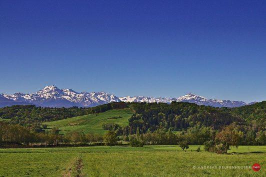 20a Blick auf die Pyrenäen bei Lannemezan