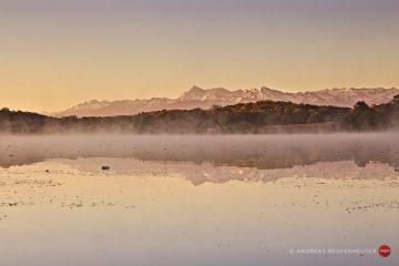 21a Lac du Gabas bei Gardères, mit etwas Frühnebel
