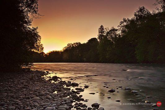 24a Sonnenaufgang am Gave d'Oloron