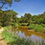 Biking am Kanal bei Capbreton