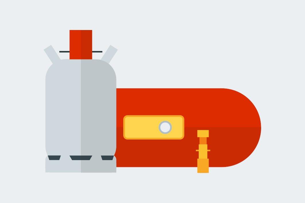Gas - Transport und Verbrauch