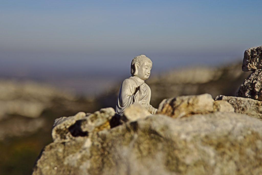 09a Wir sind nach ganz oben und trafen Buddha.