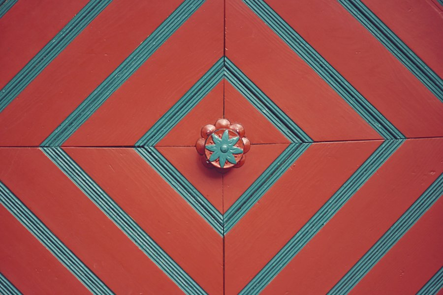 Tür im Detail