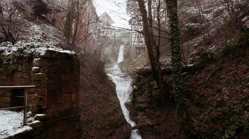 Loffenau Laufbach Wasserfälle oben
