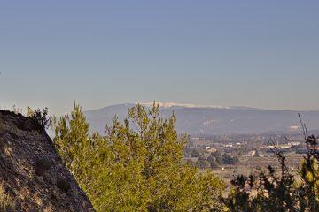 11c Der schneebedeckte Mont Ventoux