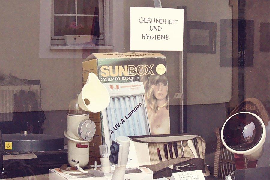 Schaufenster-Museum Verpackung