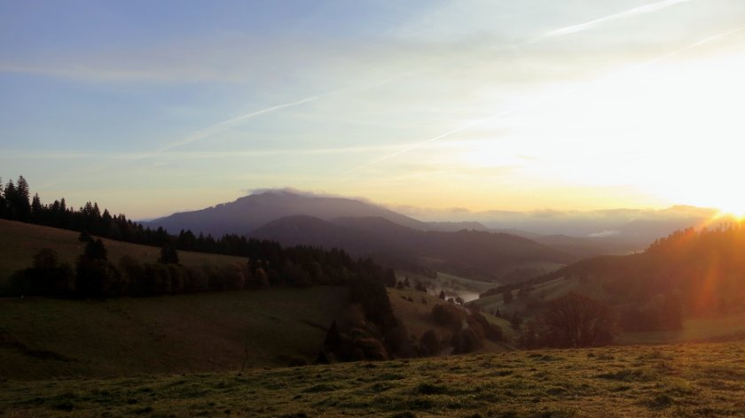 Sonnenaufgang im Südschwarzwald